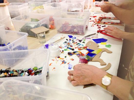 Gaudi Mosaic Workshop In Barcelona Catalunya Spain