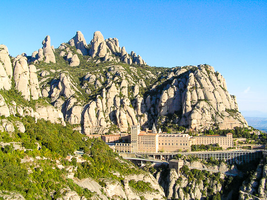 Take a motorcycle ride up to the mountains of Montserrat in Barcelona