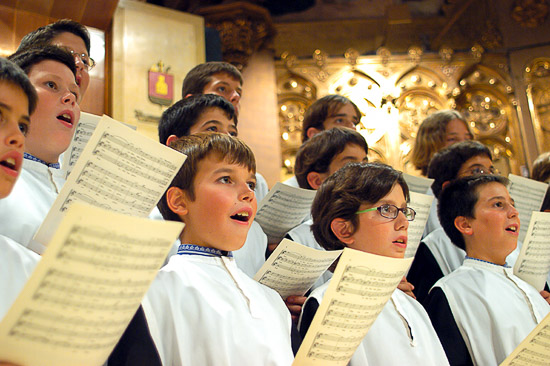 Montserrat Spain Choir Boy Performances in the Basilica
