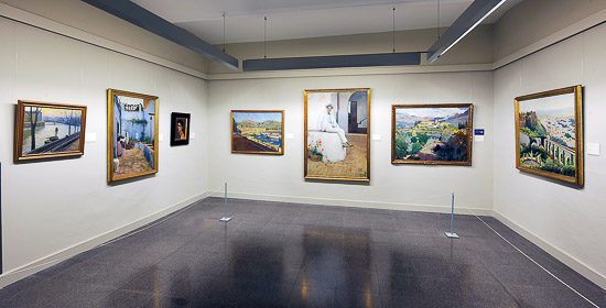 Paintings on display at Montserrat Museum