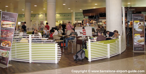 Restaurants At Barcelona Airport Terminal 1 T1 Cafes Bars And