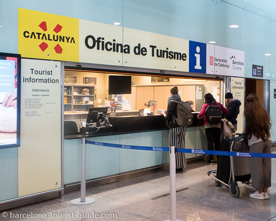 Office de tourisme à l'aéroport de Barcelone