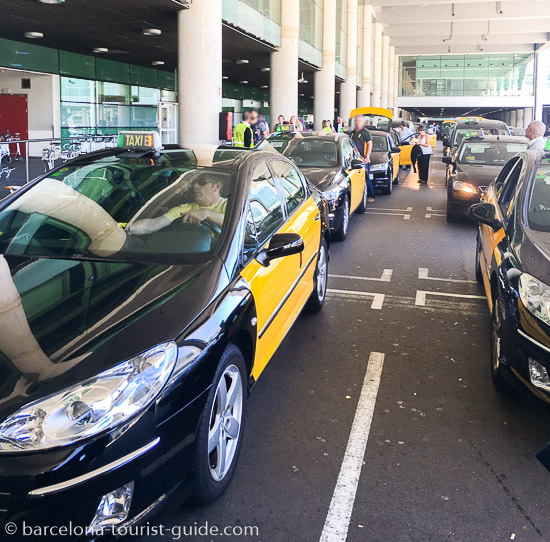 Taxis at Barcelona Airport