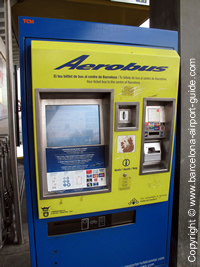 The Aerobus Ticket Machine at T2