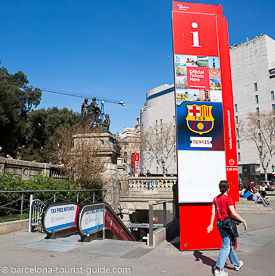 barcelona tourist office at Catalunya square central Barcelona