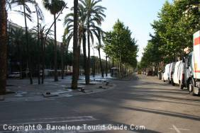 Rambla de Raval in the heart of the Raval Barrio