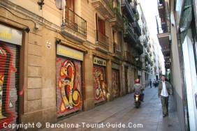 A street in Raval