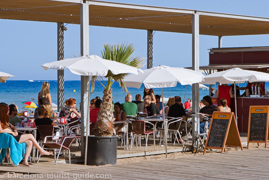 Barceloneta beach bar