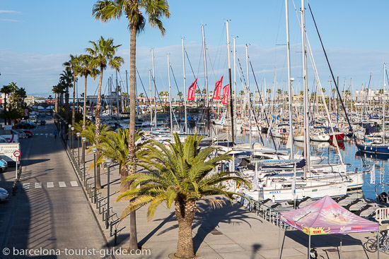 View of the marina area from hotel arts Barcelona