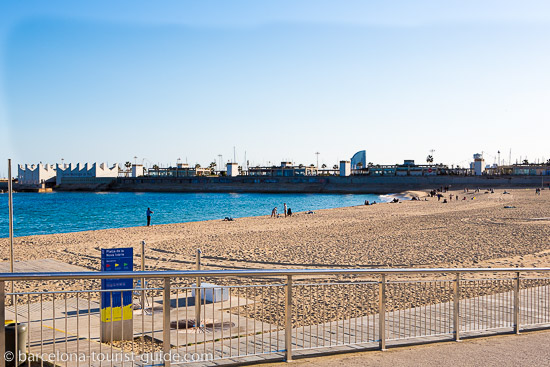 Nova Icaria Beach in Barcelona, Spain