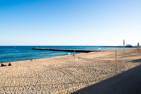 Nova Mar Bella Beach in Barcelona, Spain