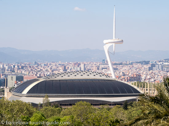 You will enjoy fabulous aerial views of Barcelona from Barcelona's botanic gardens