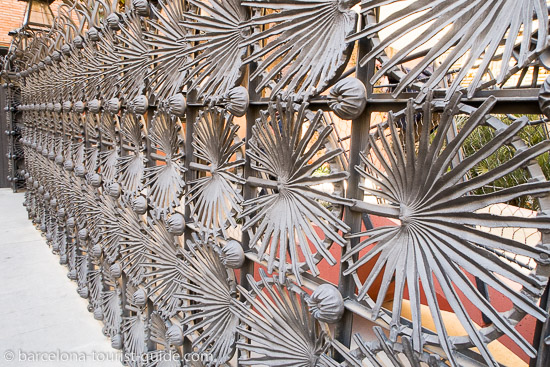 Casa Vicens Ironwork gate by Antoni Gaudí