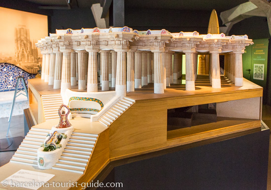 A scale model of the Gaudí monumental centre in Park Güell