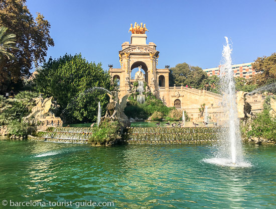 Gaudi Fountain at Parc de la Ciutadella, Barcelona, Spain.