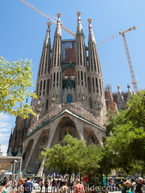 Picture of Sagrada Familia - a giant Basilica in Barcelona by Antoni Gaudí.