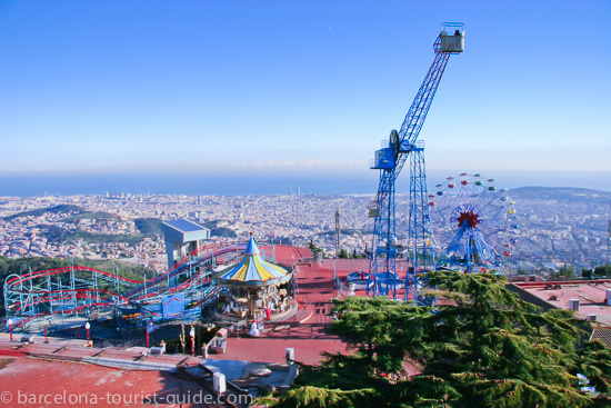 Tibidabo amusement park in Barcelona, Spain