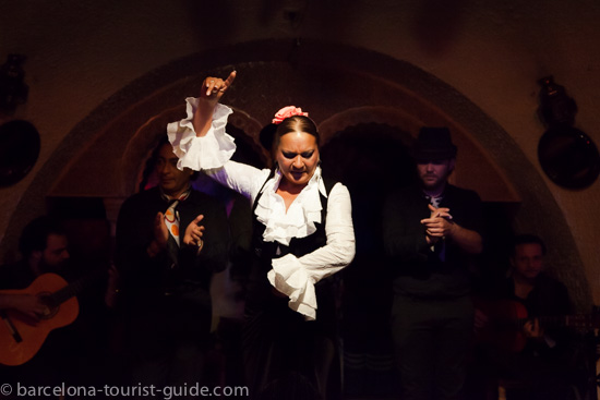 Victoria Santiago Borja known as La Tana on stage at Tablao Flamenco Cordobes.