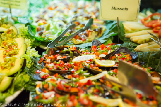 Fresh dishes on offer at Tablao Cordobés.