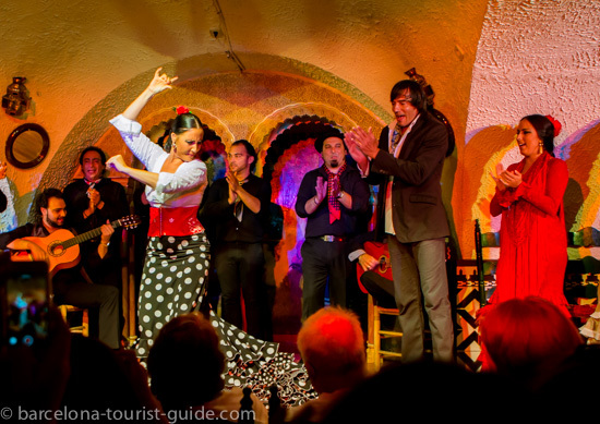 Flamenco performers and musicians