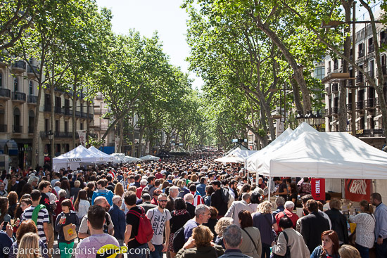 Sant Jordi day is one of the most popular events in Barcelona's calendar.