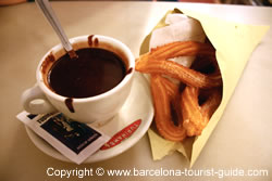 Chocolate and Churros from the Xurreria