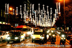 Christmas Light Displays in Barcelona