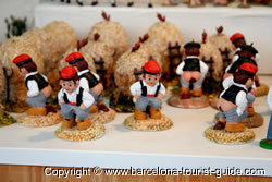 a selection of typical caganers - Spanish Christmas Decorations
