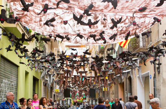 Gracia festival street decorations.