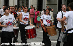 Parades in the Streets of Barcelona during La Merce