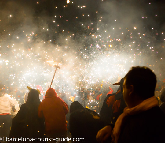 correfoc and devils in the streets of Barcelona