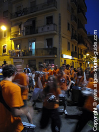 Drummers during Sant Joan Festivities