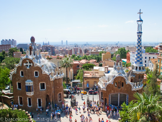 Gaudi Park Guell in Barcelona, Spain