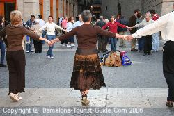 Catalan dancing in Barcelona