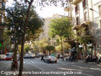 Area around Hotel Alexandra Barcelona