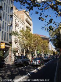 Road near Sunotel Aston Hotel Barcelona