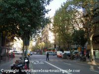Area around Hotel Balmes Barcelona