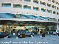 Entrance to the Eurostars Grand Marina Hotel Barcelona