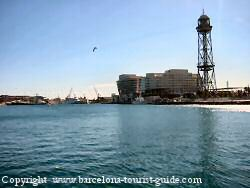 Photo showing the Gran maina hotel barcelona spain hotel across the marina area.