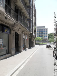 Area around Hotel Gravina Barcelona