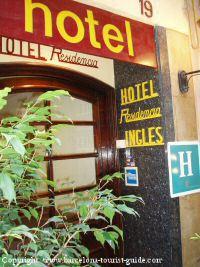 hotel ingles barcelona:
