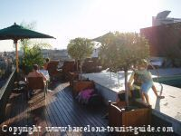 A wonderful terrace at the top of the Majestic hotel