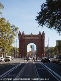 Arc de Triomf monument near the NH Podium Hotel
