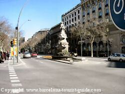 Gran Via - main road outside the Palace hotel barcelona