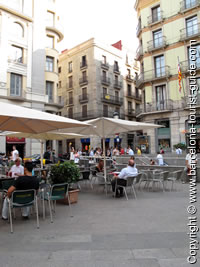 The square outside Hotel Suizo Barcelona