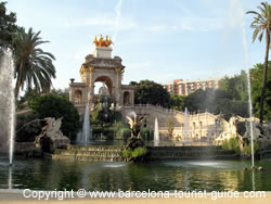 Fountains in Parc de Ciutadella