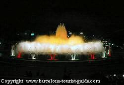 photo of the magic fountain of Montjuïc in Barcelona