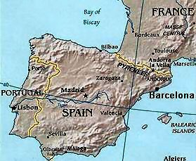 Map Of Spain With Barcelona.Barcelona Spain Overview Of Barcelona In Spain