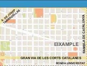 Cartina Barcellona Dettagliata.Mappa Stradale Di Barcellona