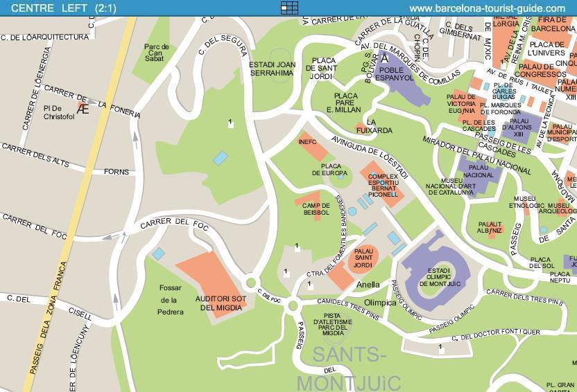 Barcelona Street Map – Barcelona Tourist Map Pdf